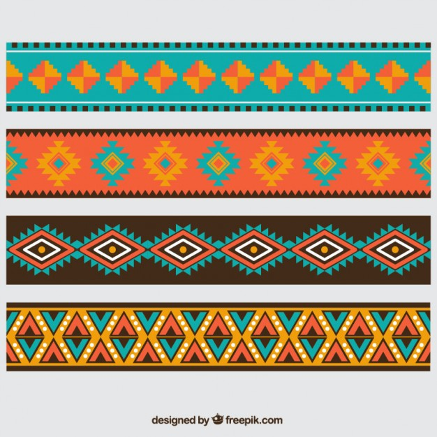 Aztec borders Free Vector - Aztec PNG Borders