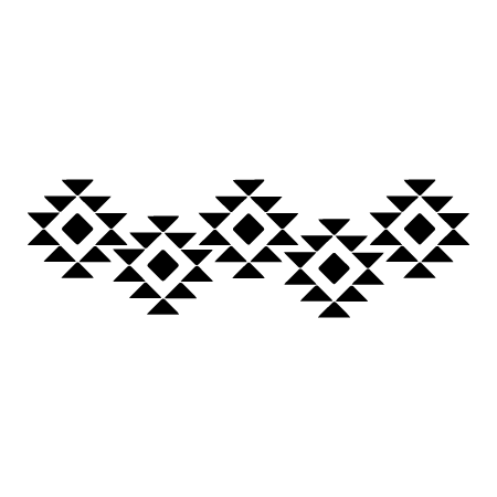 aztec design border wall art