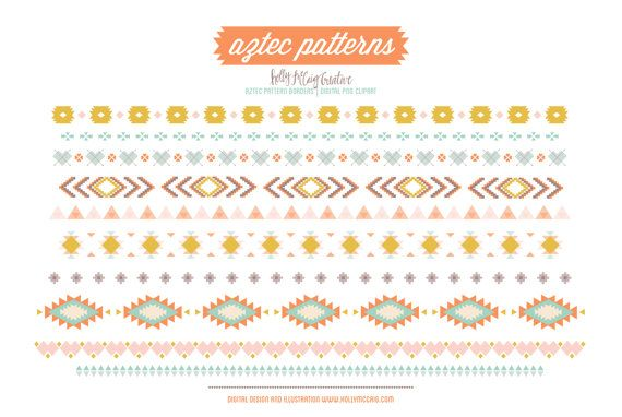 Aztec Tribal Borders PNG Clip Art by Holly McCaig Creative on Creative  Market - Aztec PNG Borders