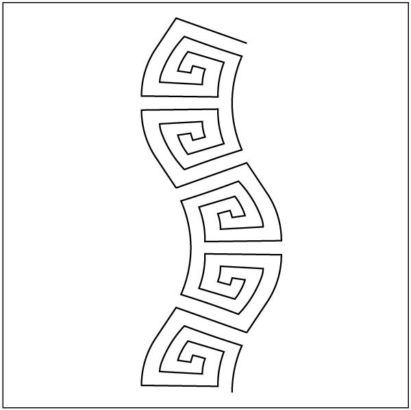 Aztec Wave - Stencil - Aztec PNG Borders