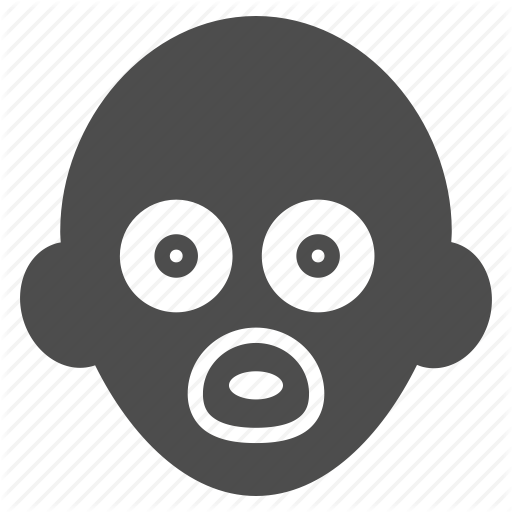 babe, baby head, birth, child, children, kid, kids icon - Babae PNG Black And White