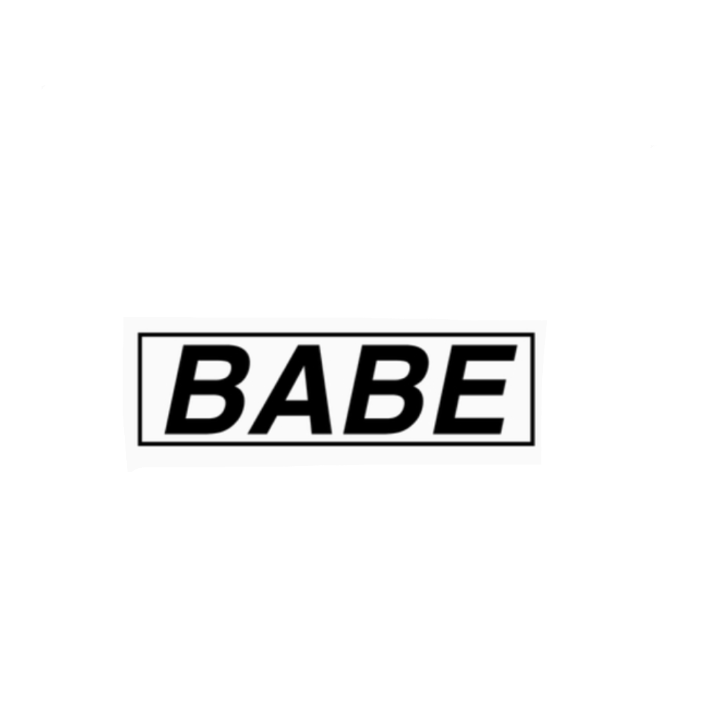 babe png pngtumblr pngs stickers me FreeToEdit. - Babae PNG Black And White