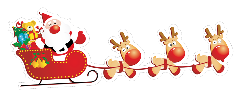 Babbo-Natale-con-slitta-1 - Babbo Natale PNG