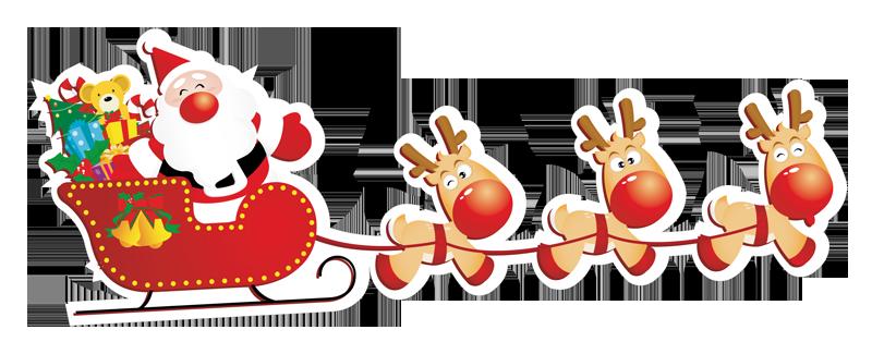 Babbo-Natale-con-slitta-1 - Babbo Natale PNG