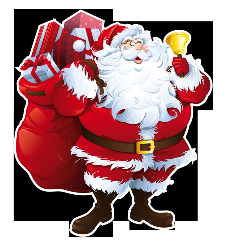 Vetrofania Babbo Natale 1 - Babbo Natale PNG