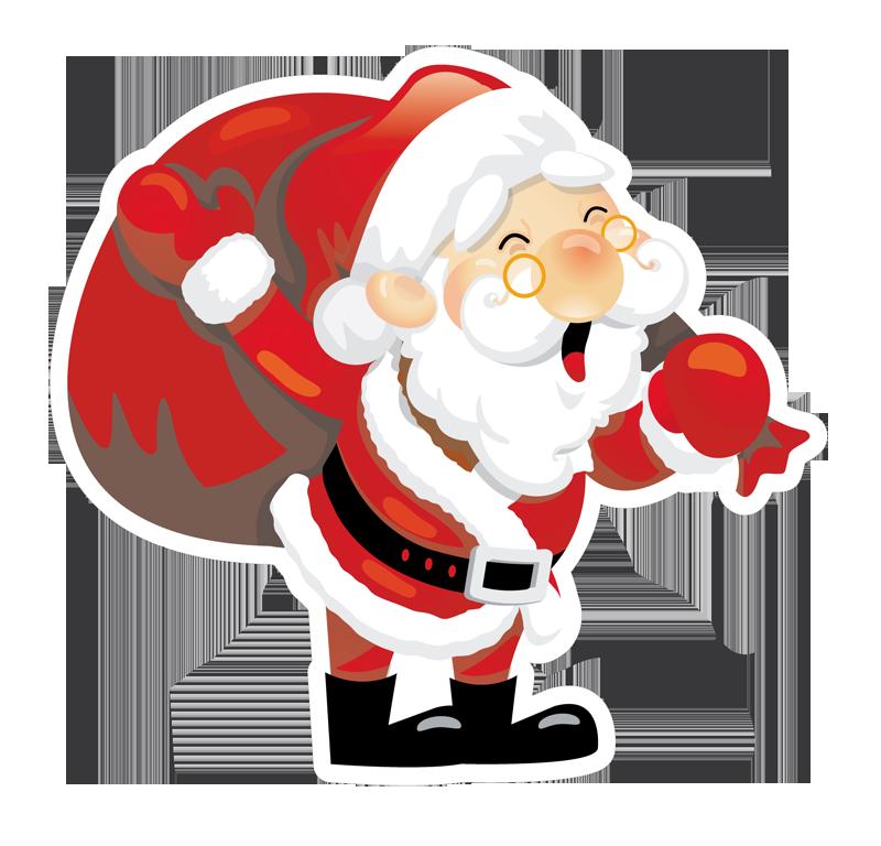 Vetrofania Babbo Natale 5 - Babbo Natale PNG