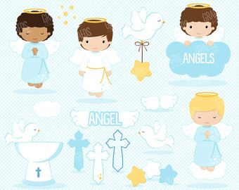 Angel Digital Clipart, Angel Clipart, Angel Clip Art, Angel Boy Clipart,  Angel Boy Clip Art, Baptism Clipart, Angel Baptism Boy Clipart - Baby Baptism PNG HD