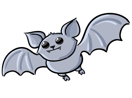Cute Halloween Clip Art | Free Cute Bat Clip Art - Baby Bat PNG