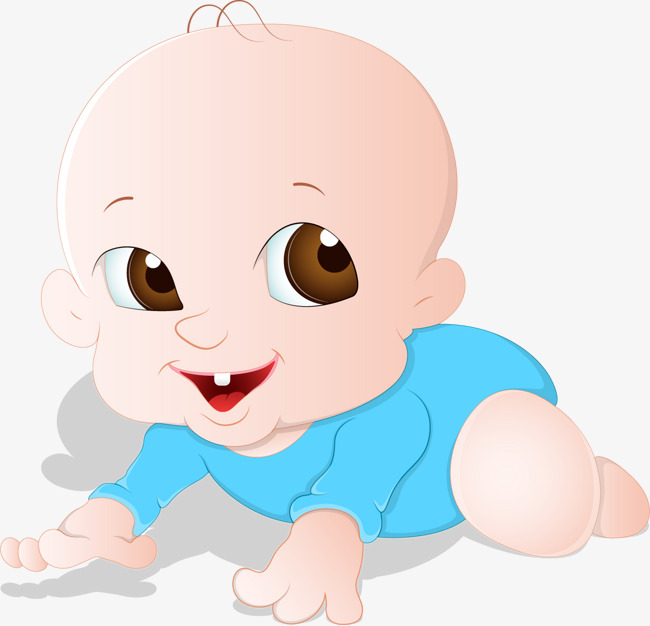 cartoon baby tummy, Hand Painted Cartoon, Baby, Crawl PNG and Vector - Baby Belly PNG