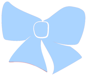 Baby Blue Hair Bow Clip Art - Baby Blue Bow Tie PNG