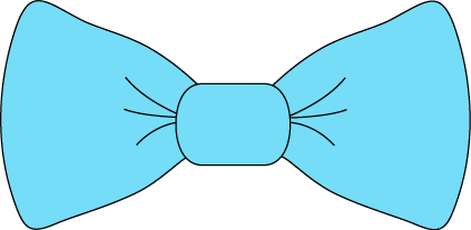 Light Blue Bow Tie - Baby Blue Bow Tie PNG