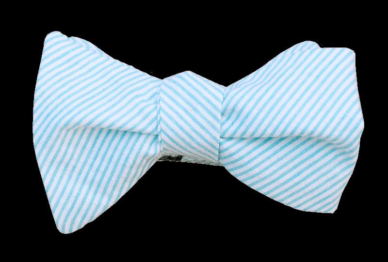 Light Blue Seersucker Bow Tie - Baby Blue Bow Tie PNG