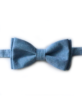 Light Denim Bow Tie - Baby Blue Bow Tie PNG