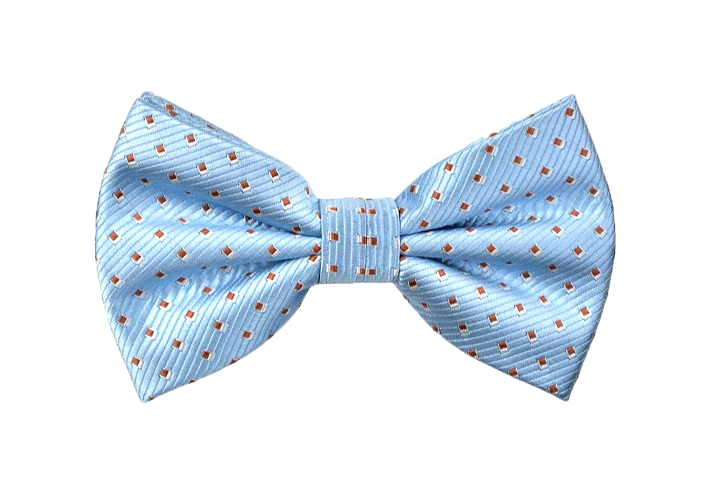 Spotted Selby Bow Tie in Baby Blue - Baby Blue Bow Tie PNG