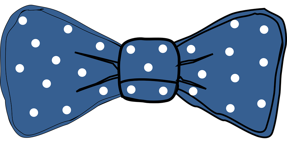 tie dots bow blue fashion elegant - Baby Bow Tie PNG