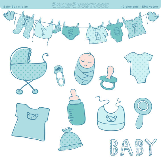 Baby Boy Items PNG - 48221