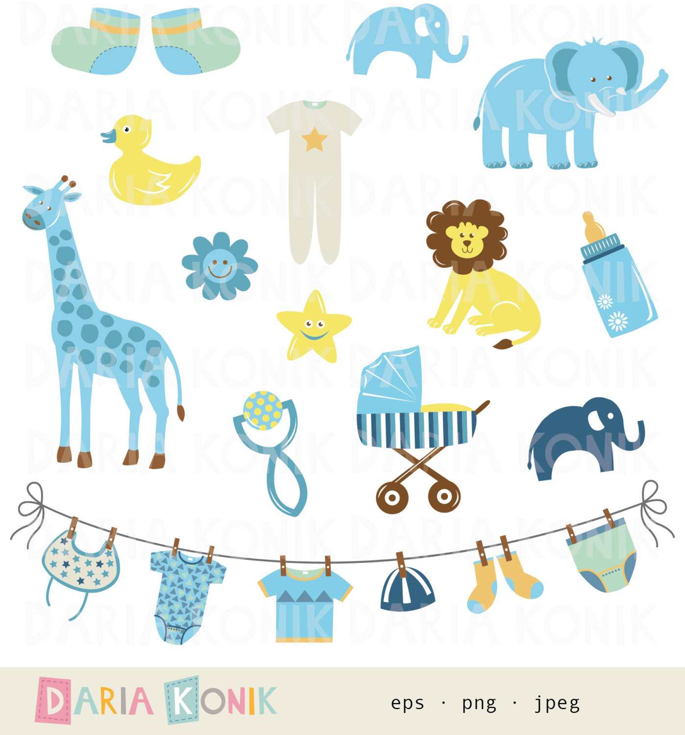 Baby Boy Items PNG - 48220