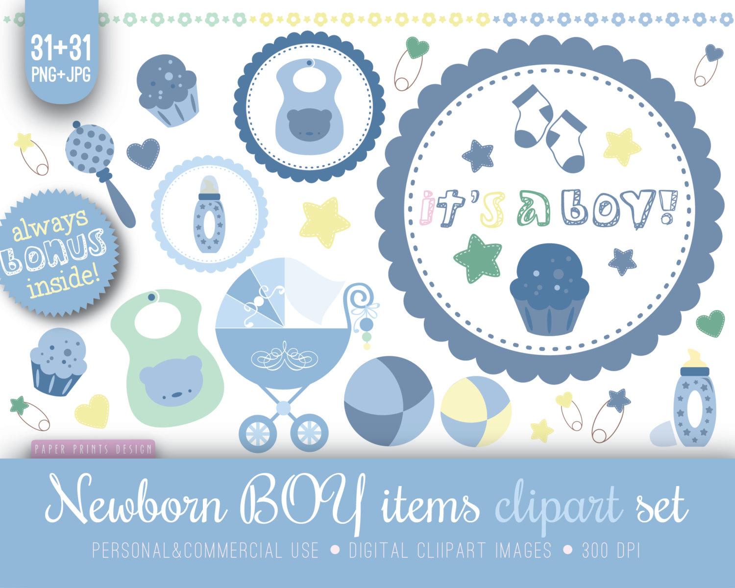 Baby Boy Items PNG - 48225