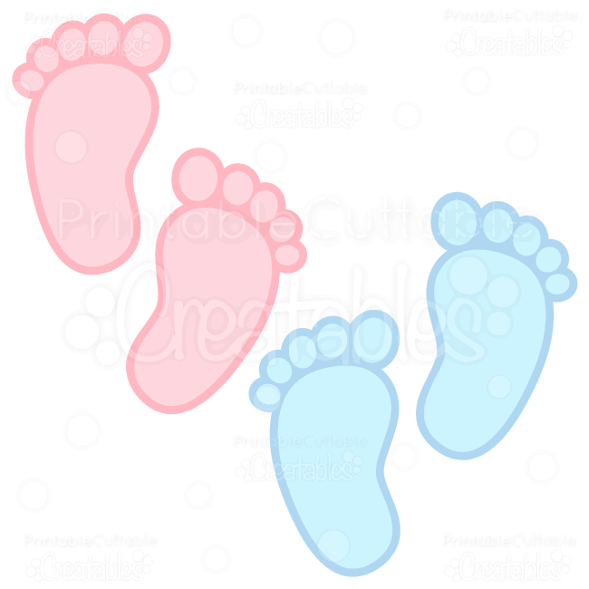 Baby Footprints Free SVG Cuts u0026 Clipart - SVG Free scrapbook cut files for  Silhouette, Cricut cutting machine. - Baby Boy Rattle PNG