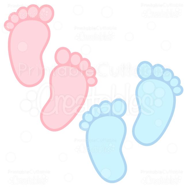 Baby Footprints Free SVG Cuts