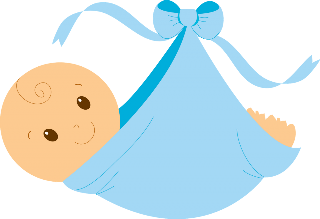 Baby rattle baby boy clipart