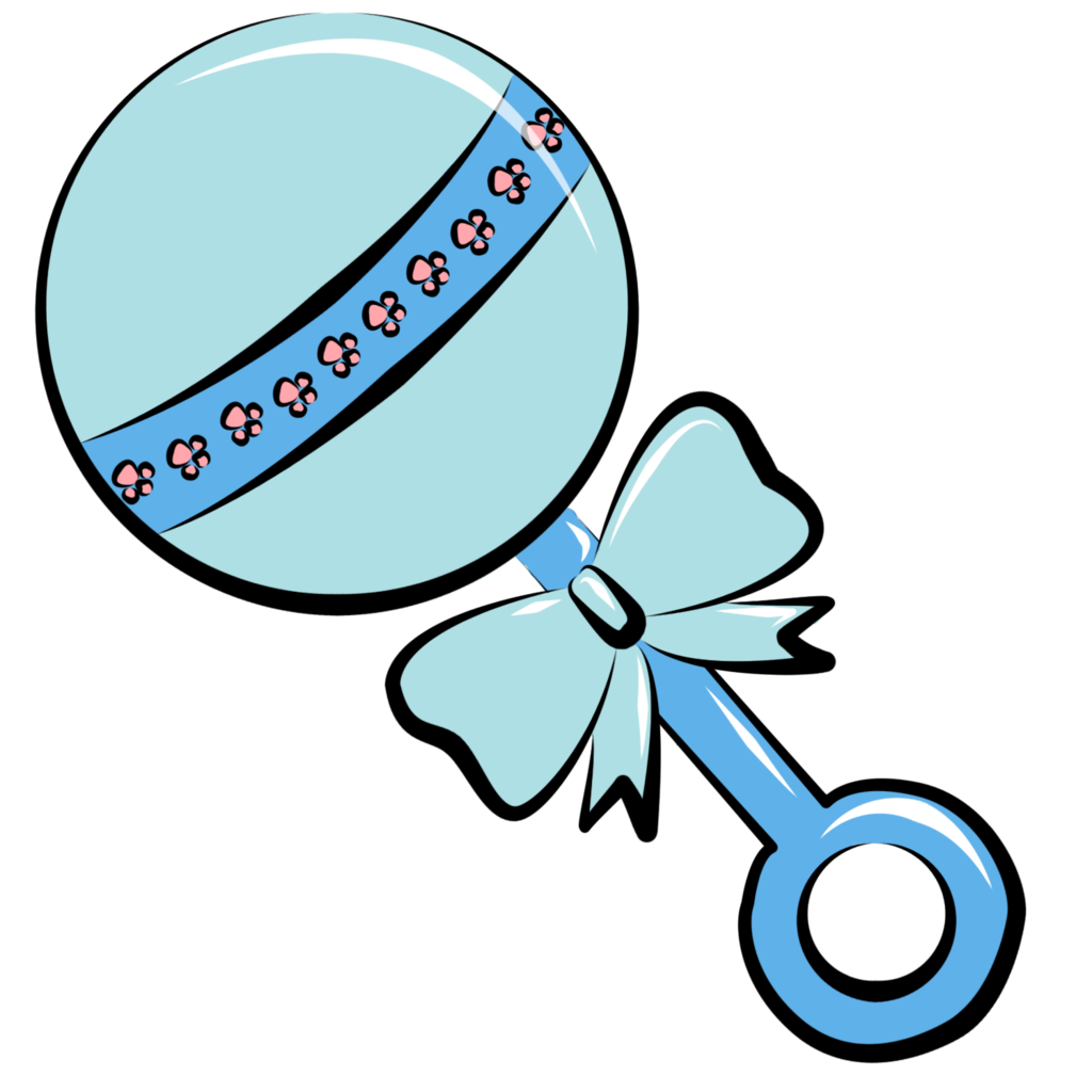 Baby rattle clipart 3 - Baby Boy Rattle PNG