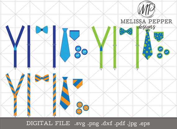 Motheru0027s Day Suspenders Tie SVG, Spring Baby Suspenders design, Baby bow tie  png eps, cute baby boy svg, blue green orange suspenders,svg - Baby Boy Tie PNG