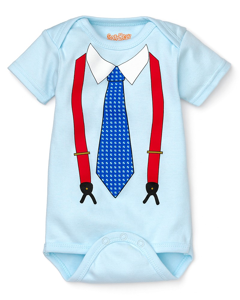Sara Kety Infant Boysu0027 Tie and Suspenders Bodysuit - Sizes Months - Baby Boy Tie PNG