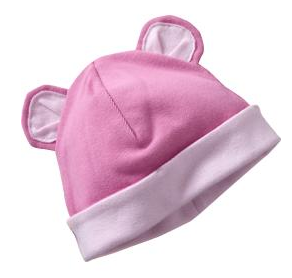 Critter Ear Hat (photo from OldNavy pluspng.com), $5.94. I am fond of ear hats for  babies, and this one comes in both pink and blue. - Baby Cap PNG