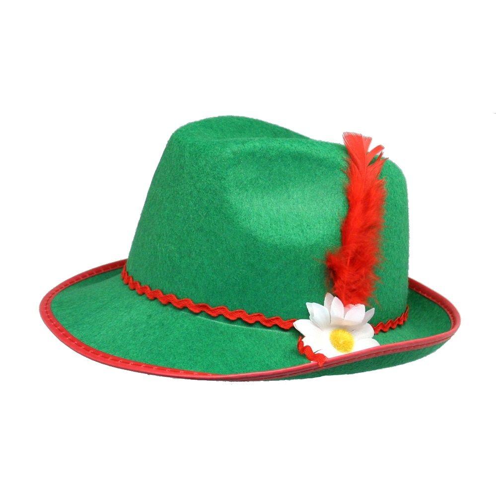 Flot grøn tyrolerhat med fjer til dit oktoberfest kostume. - Baby Cap PNG