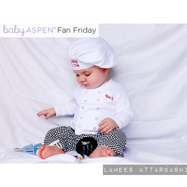 Baby in Baby Aspen baby chef outfit - Baby Chef PNG