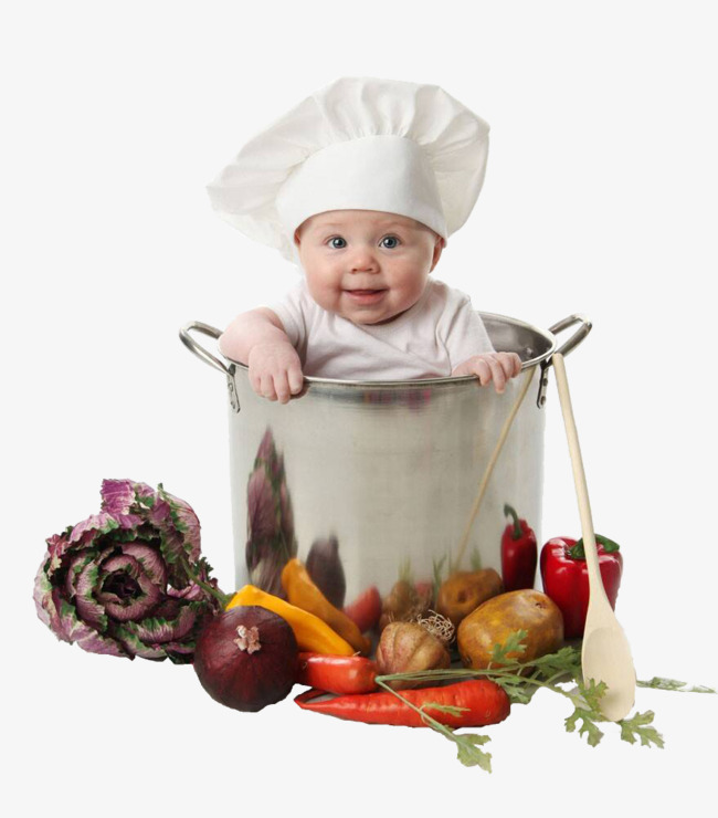 Pot baby sitting, Fruits And Vegetables, Baby, Eat PNG Image and Clipart - Baby Chef PNG