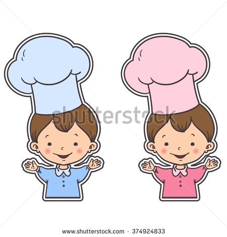 Vector design sticker with cook baby boy and girl. Cute cartoon baby chef.  Kids - Baby Chef PNG