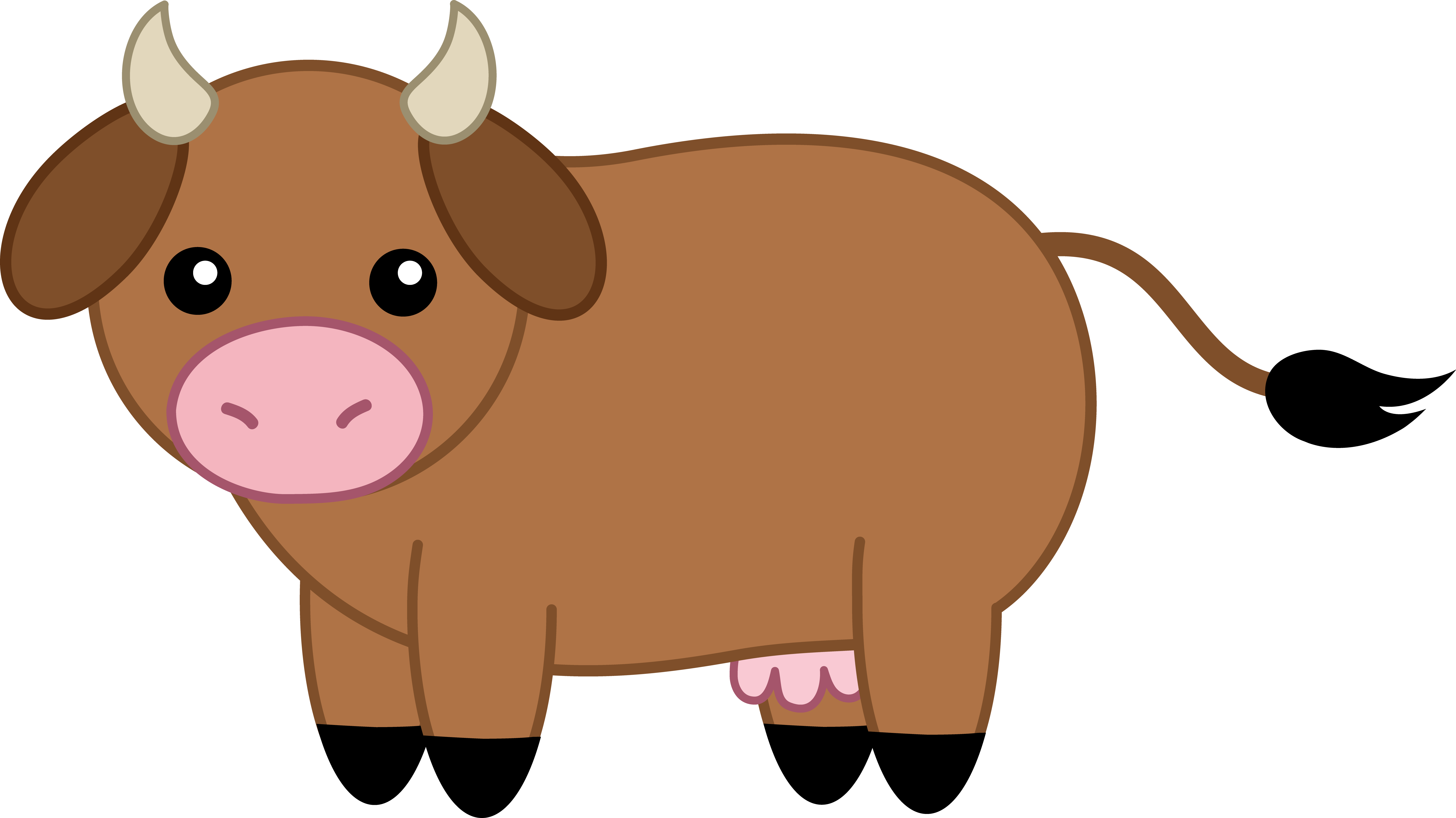 Animal Clipart Hd Desktop - Baby Cow PNG HD