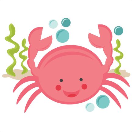 Smiling Crab SVG scrapbook cut file cute clipart files for silhouette  cricut pazzles free svgs free - Baby Crab PNG