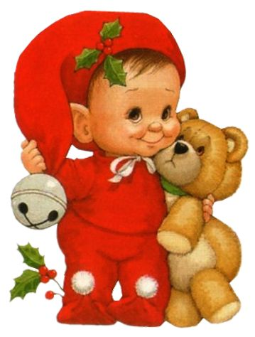 baby and bear ruth morehead clipart - Baby Elf PNG