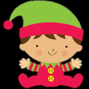 BABY CHRISTMAS ELF CLIP ART - Baby Elf PNG