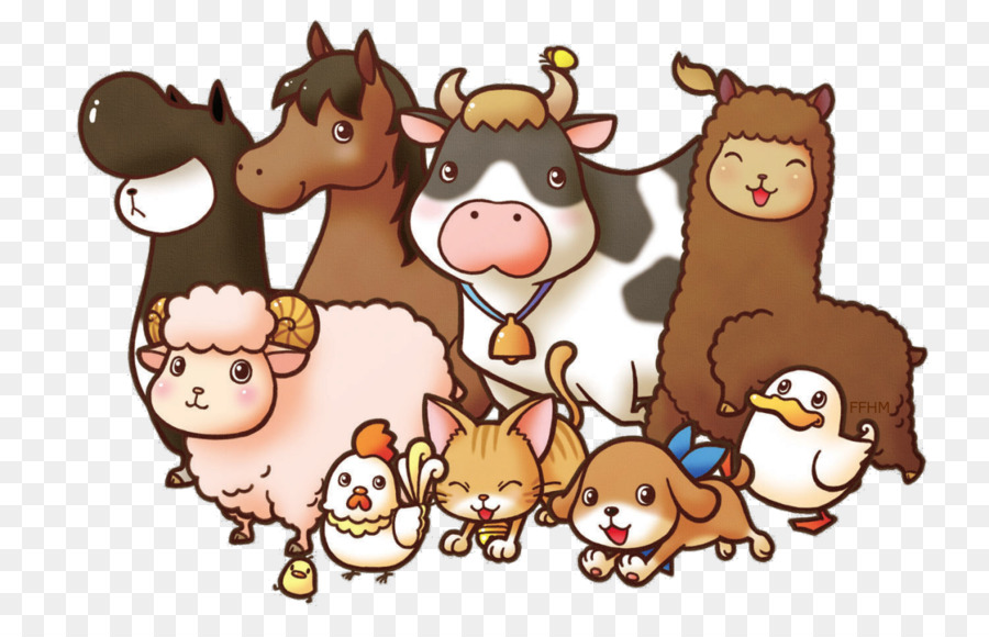 Baby Jungle Animals Farm Livestock Clip art - animals - Baby Farm Animals PNG HD