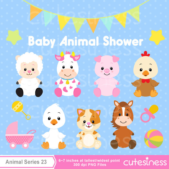 Charming Baby Farm Animals Clip Art and Ba Animal Clipart Ba Farm Animals  Clipart Ba Shower - Baby Farm Animals PNG HD
