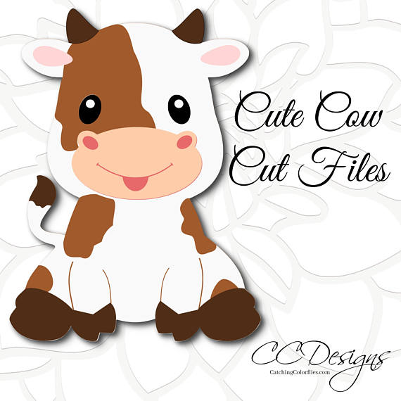 Cute Cow SVG cut file, Baby cow sitting SVG, Farm animal cut files, Baby  farm animals, PNG images, Dxf cut files - Baby Farm Animals PNG HD
