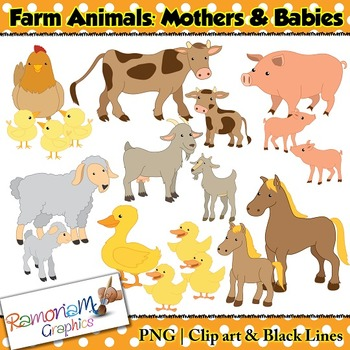 Farm Animals Clip art - Baby Farm Animals PNG HD