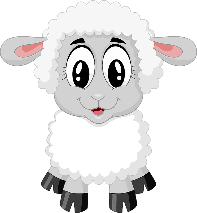 lamb sheep cute farm animal baby - Baby Farm Animals PNG HD