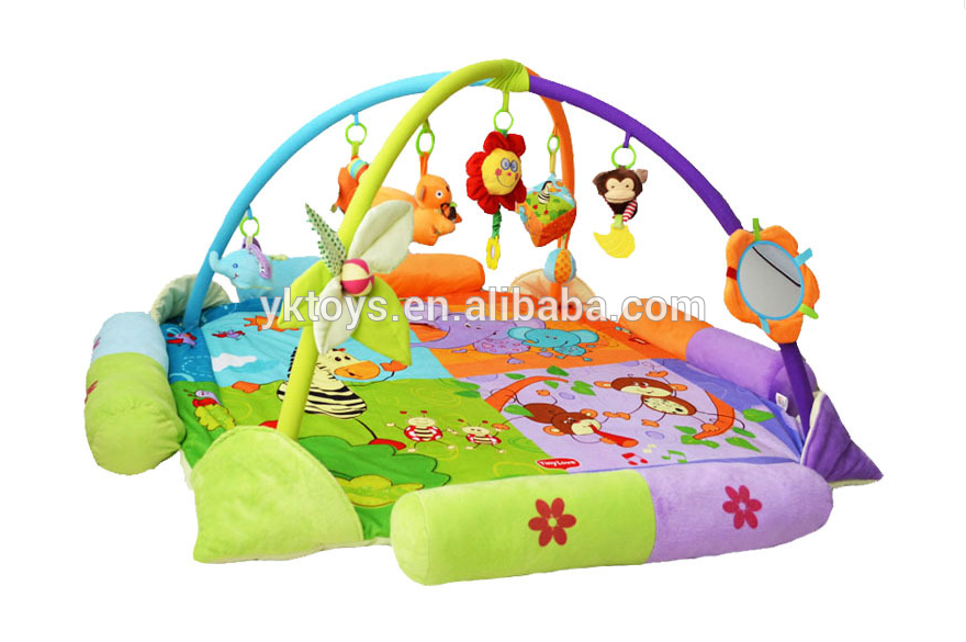 Baby Gym And Play Mat - Gym Activity Musical Playland With Accessories For  Infants And Toddlers - Baby Gym PNG