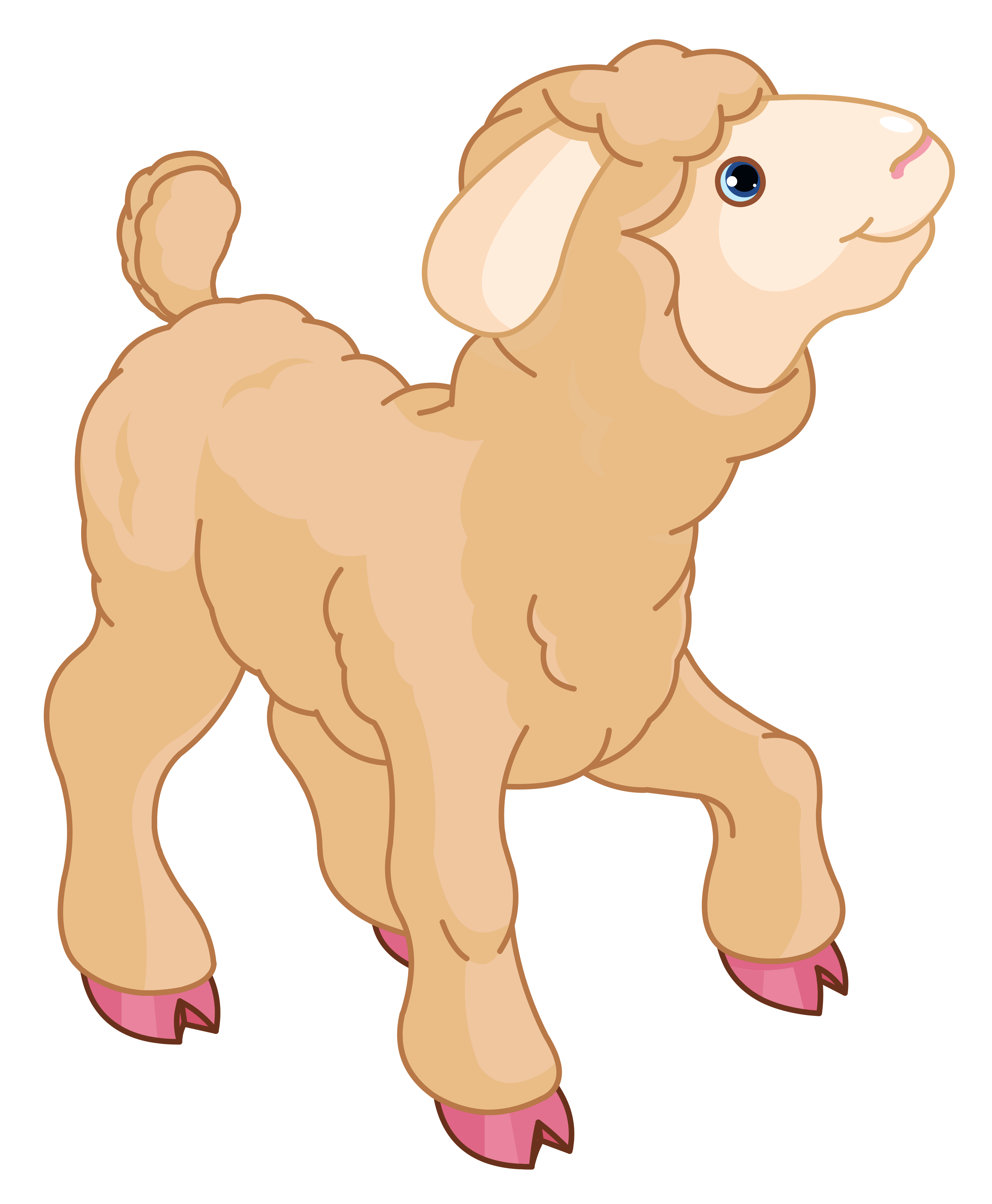 Little Lamb PNG Clipart - Baby Lamb PNG