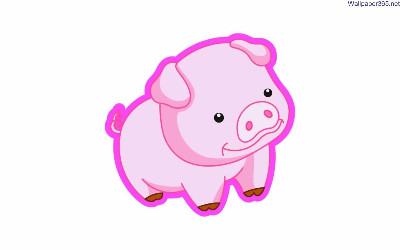 Cartoon Pig Wallpaper 26701 Hd Wallpapers In Animals