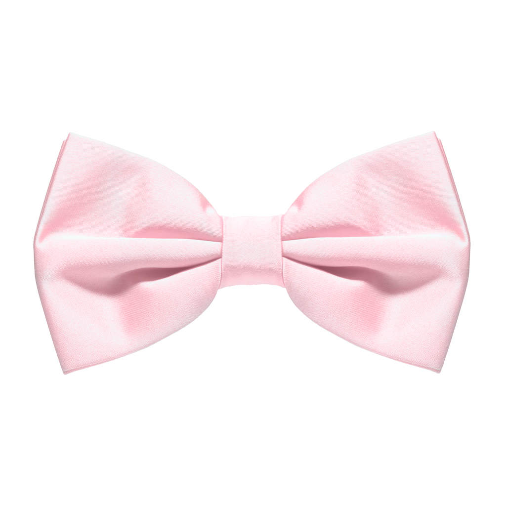 LIGHT PINK Bow Tie Pre Tied SuspenderStore - Baby Pink Bow PNG
