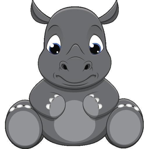 Baby Rhino Pet - Baby Rhino PNG