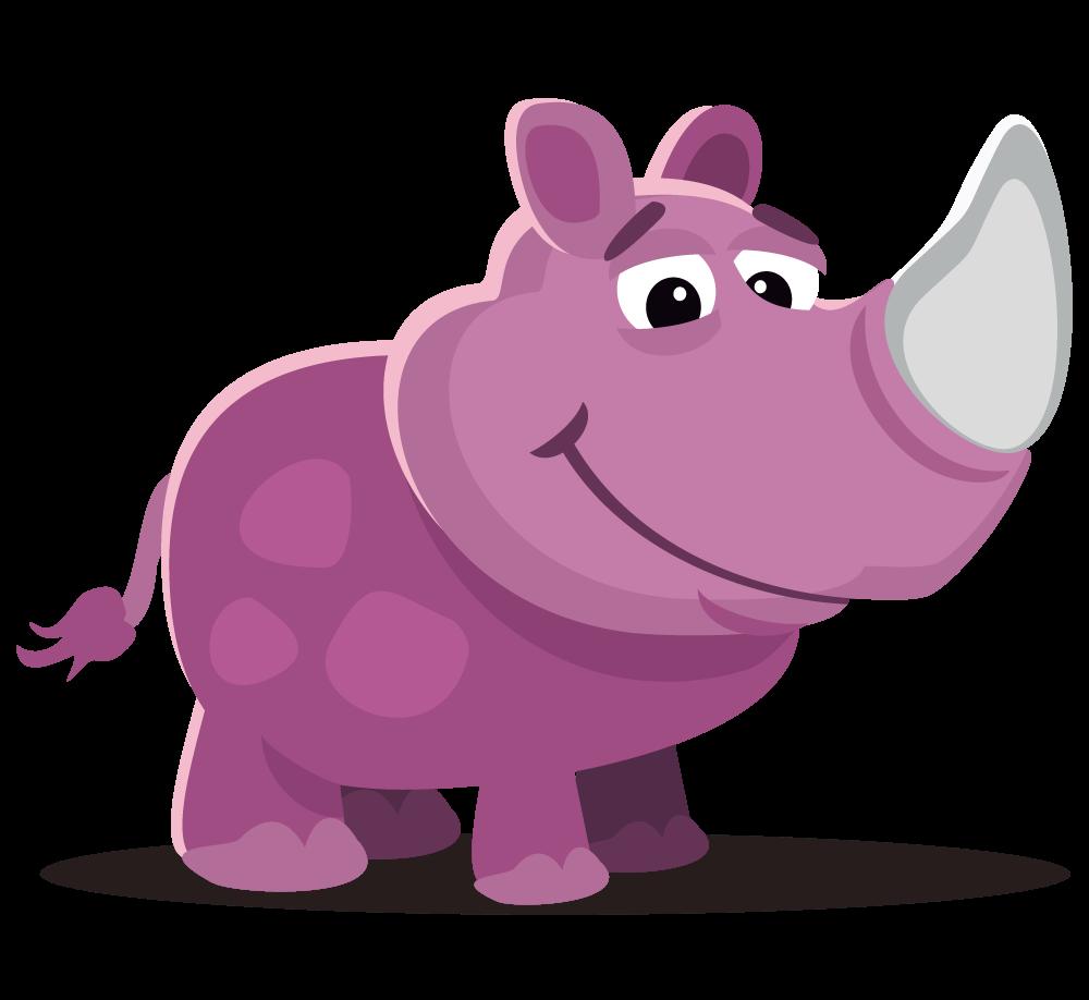 Pin Rhino Clipart #13 - Baby Rhino PNG