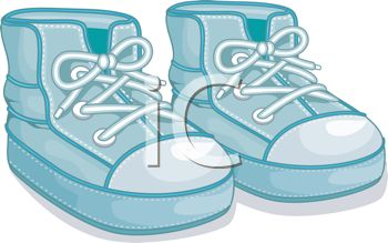 Image of a Blue Pair of Toddleru0027s High Top Tennis Shoes In a Vector Clip  Art Illustration - Royalty Free Clipart Illustration - Baby Shoes For Boys PNG