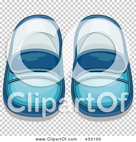 Royalty-Free (RF) Clipart Illustration of a Pair Of Blue Boyu0027s Baby Shoes -  2 by BNP Design Studio #433100 - Baby Shoes For Boys PNG
